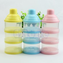 Baby Infant Feeding Milk Powder Food Bottle Container Portable 3 Cells Grid Boxfor kitchen or bathroom