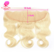 QUEEN 13x4 Lace Frontal Pre Plucked Body Wave 613 Blonde Remy Brazilian Human Hair 13*4 Frontal Closure Swiss Lace Baby Hair