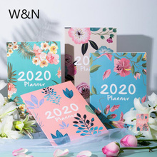 цена на 2020 Cute Kawaii Notebook Paper Diary Planner Weekly Monthly Yearly Planner Organizer Notebook Agenda A4 Office School Supplies