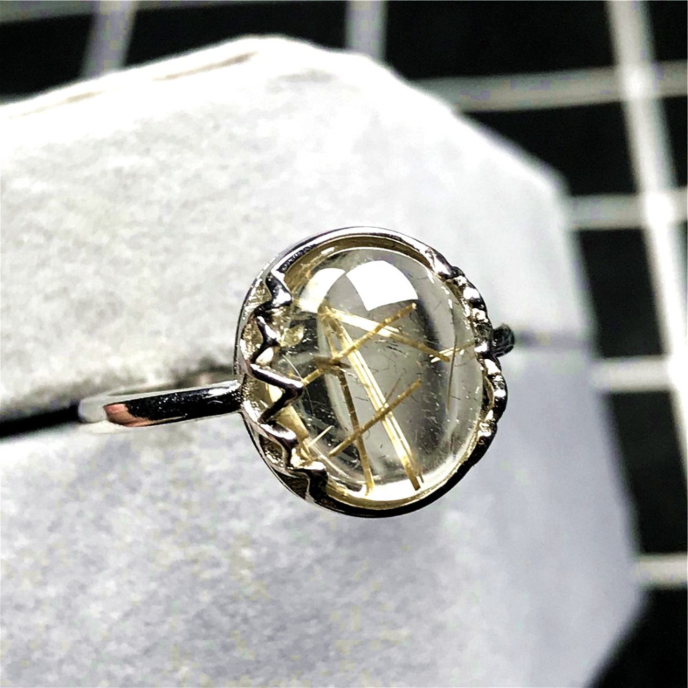 Gold Rutilated Ring (51)