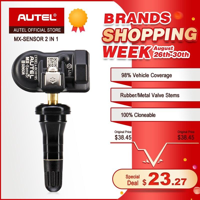 Capteur AUTEL MX 433 315 TPMS mx-sensor Scan outils de réparation de pneus accessoire automobile moniteur de pression de pneus programmeur MaxiTPMS Pad