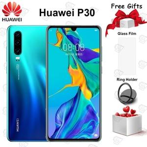 Оригинальный Huawei P30 мобильный телефон 6,1 дюйма 8 ГБ + 128 ГБ Kirin 980 Восьмиядерный 30x цифровой зум Quad Camera 3650 мАч NFC Смартфон
