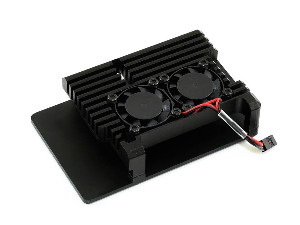 Aluminium Alloy Case For Raspberry Pi 4 Model B, Black Armour, Dual Cooling Fans,dust Resistance, Excellent Heat Spreading