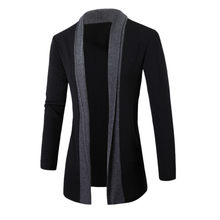 Nieuwe 2019 Casual mannen Jassen Stijlvolle Mannen Fashion Vest Jas Slanke Lange Mouwen Casual Jas Mode Plus Size mannen's Jacket(China)