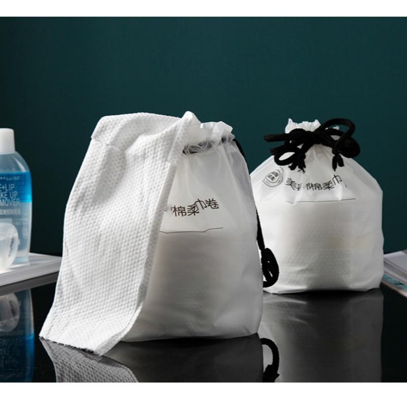 Одноразовое полотенце для лица, мягкая хлопковая салфетка с жемчужным узором, Влажная и сухая салфетка для красоты, портативная салфетка дл...