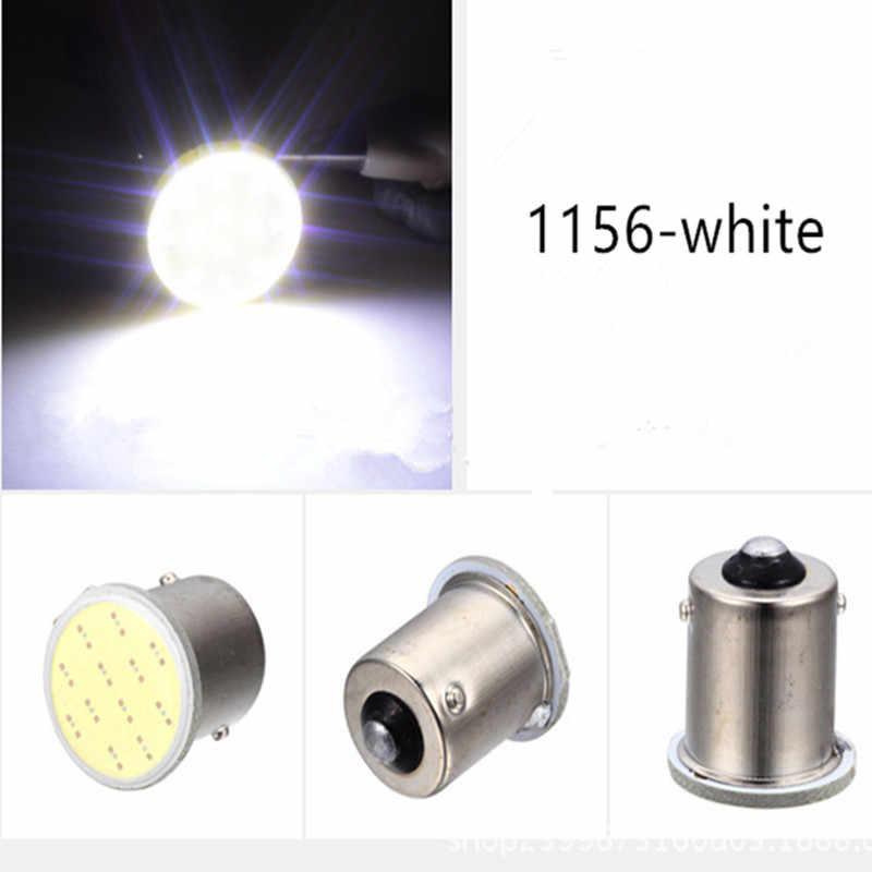 1x P21W 1157 Bay15d 1156 P21W LED dönüş sinyali ampul COB araba iç işık park ters arka fren lambası süper parlak 12V