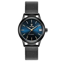 TEVISE New Multifunctional Mechanics Round Dial Men Wrist Watch Fashionable Male Casual Stainless Steel Net Wristwatches