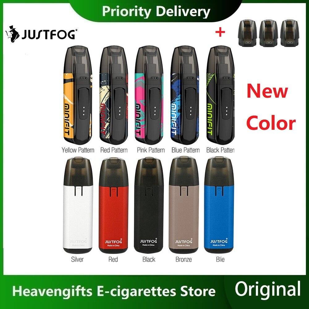New Colors Kit JUSTFOG MINIFIT Pod Vape Kit With 370mAh Battery & 1.5ml Cartridge Pod System Pod Vape Kit Vs Drag Nano/ Kubi