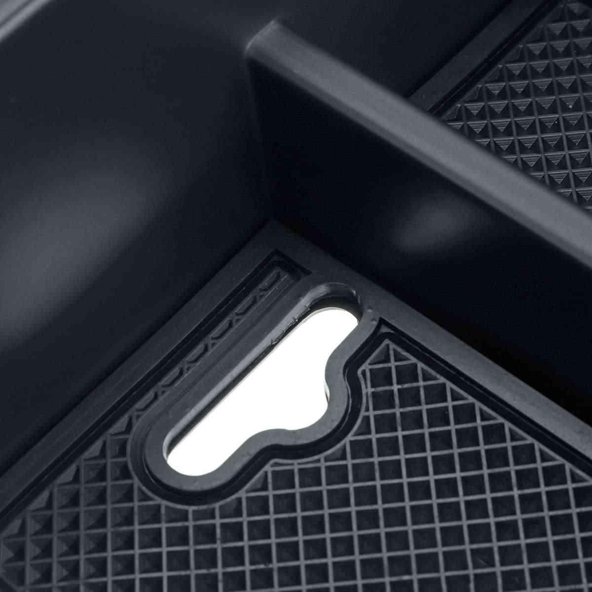 שחור אוטומטי רכב פנים מרכזית משענת יד מחזיק מגש Mouldings עבור KIA נירו 2018 2019 w/מחצלות stowing לסדר