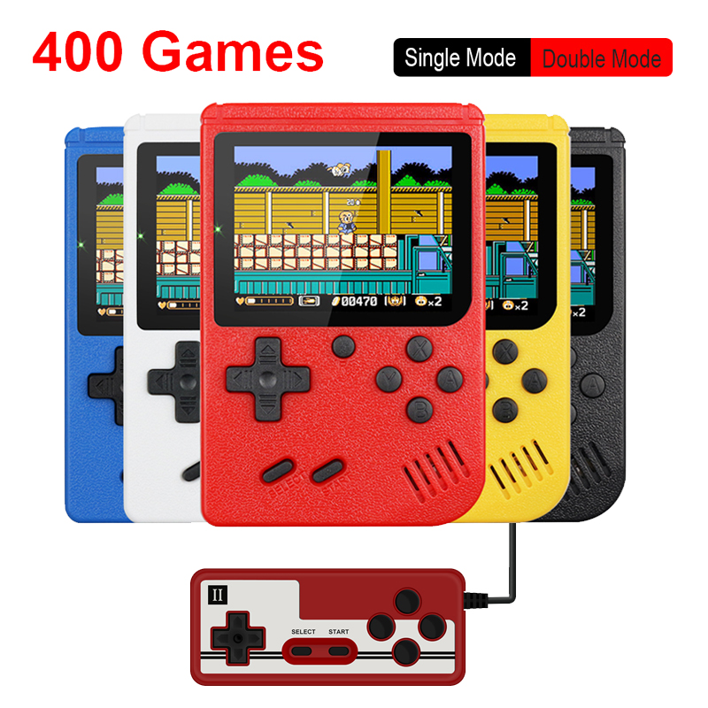Retro Portable Mini Handheld Game Console 500mAh Battery 3 0 Inch Color LCD Kids Color Game Player Built-in 400 Games
