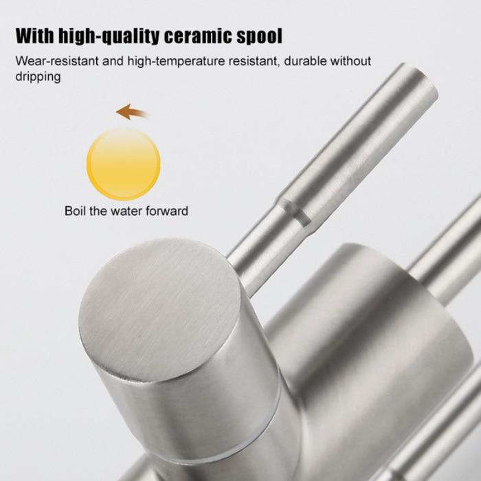 Torneira de aço inoxidável 360 graus rotatable