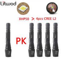 Z20 Litwod caccia tattico Della Torcia Elettrica 8000lumen CREE XHP50/L2/T6 potente Led Torcia della Torcia Elettrica della bicicletta lanterna