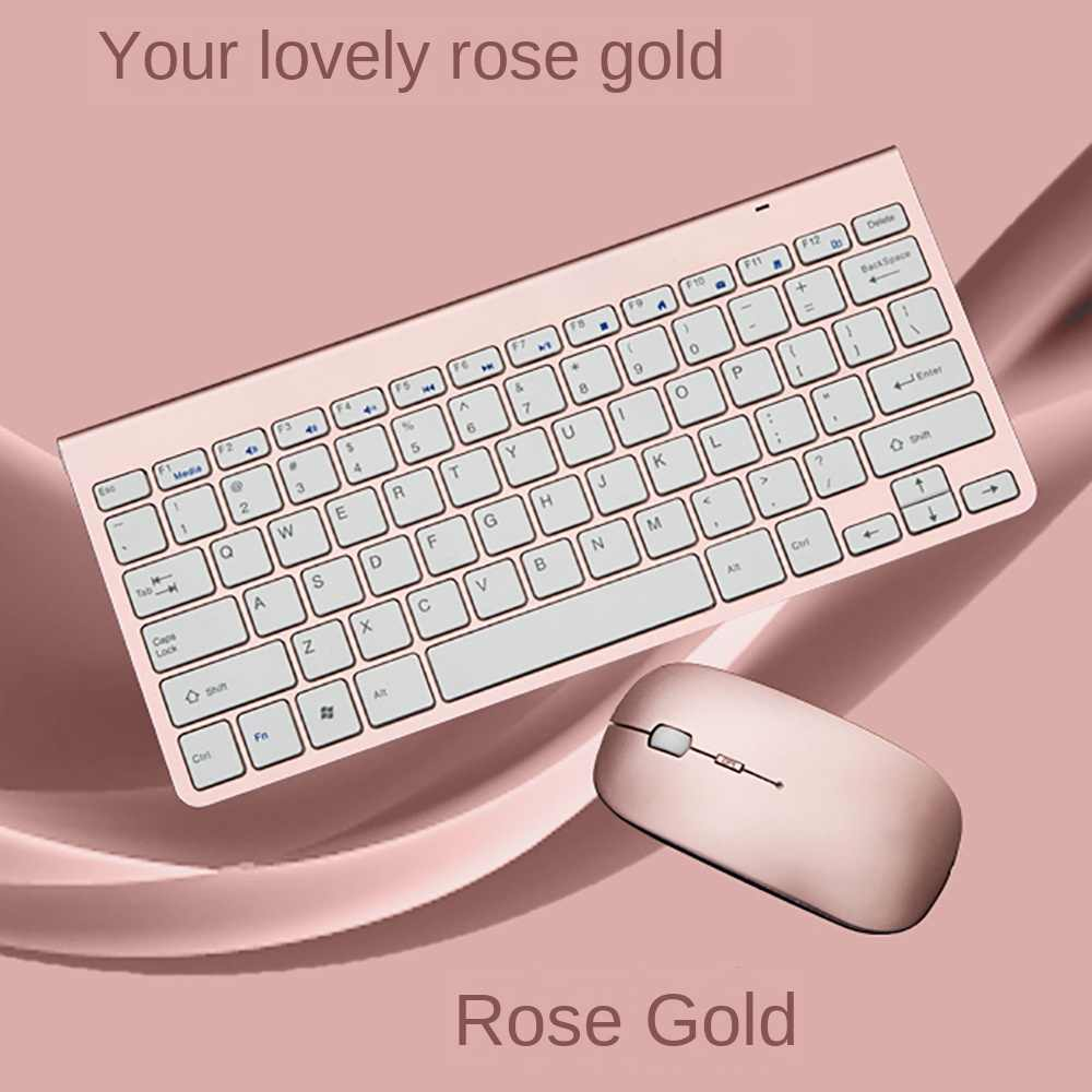 Color : Pink Gaming L100 2.4GHz Ultrathin Wireless Keyboard Mouse Set Black