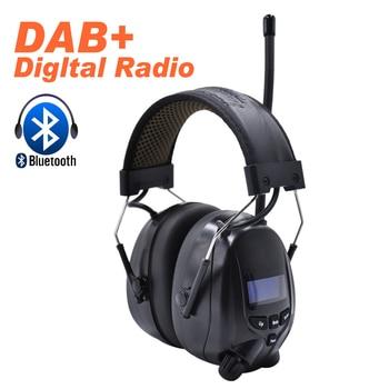 Protear NRR 25dB Hearing Protector Bluetooth DAB+/FM Radio Earmuffs Electronic Ear Protection Bluetooth Headphone Ear Defender
