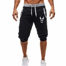 New brand fashion shorts male 2019 mens venom Harajuku printed fitness sports pants jogging large siz
