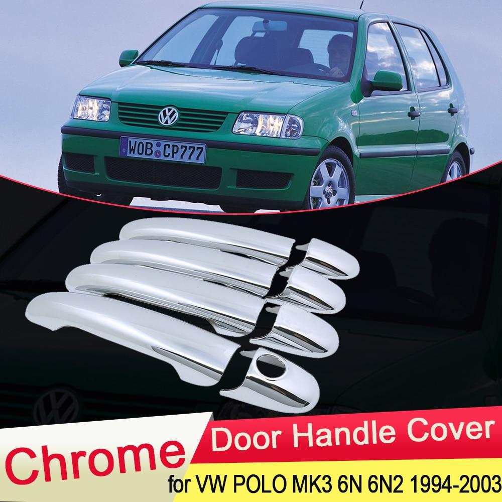 Für Volkswagen VW POLO MK3 6N 6N2 1994 ~ 2003 Chrom Türgriff Abdeckung Trim Catch Auto Set Styling Zubehör 1995 1996 1997 1998-in Autoaufkleber aus Kraftfahrzeuge und Motorräder bei