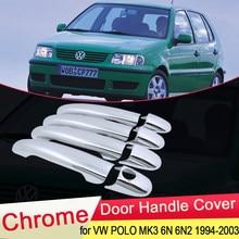 Capas de porta para volkswagen vw polo, acessórios de estilo de carro mk3 6n 6n2 1994 ~ 2003 1995 1996 1997 1998