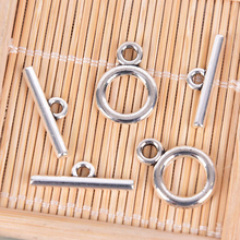 20pcs=10sets Stainless Steel Round Clasps Open Ring Clasp Toggle Clasps End Connectors Necklace Bracelet DIY Jewelry Parts