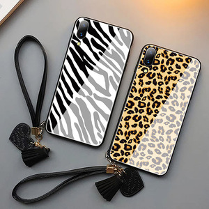 Image 5 - Fashion leopard pattern tempered glass luxury phone case for iphone 11 lot pro max x xr xs max 8 7 6s plus cover soft edge women