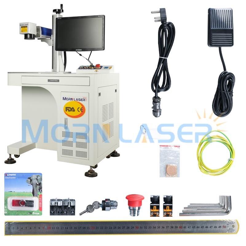20W Desktop Fiber Laser Marking Machine Metal Engraver Machine For Phone Case Marking For Sale