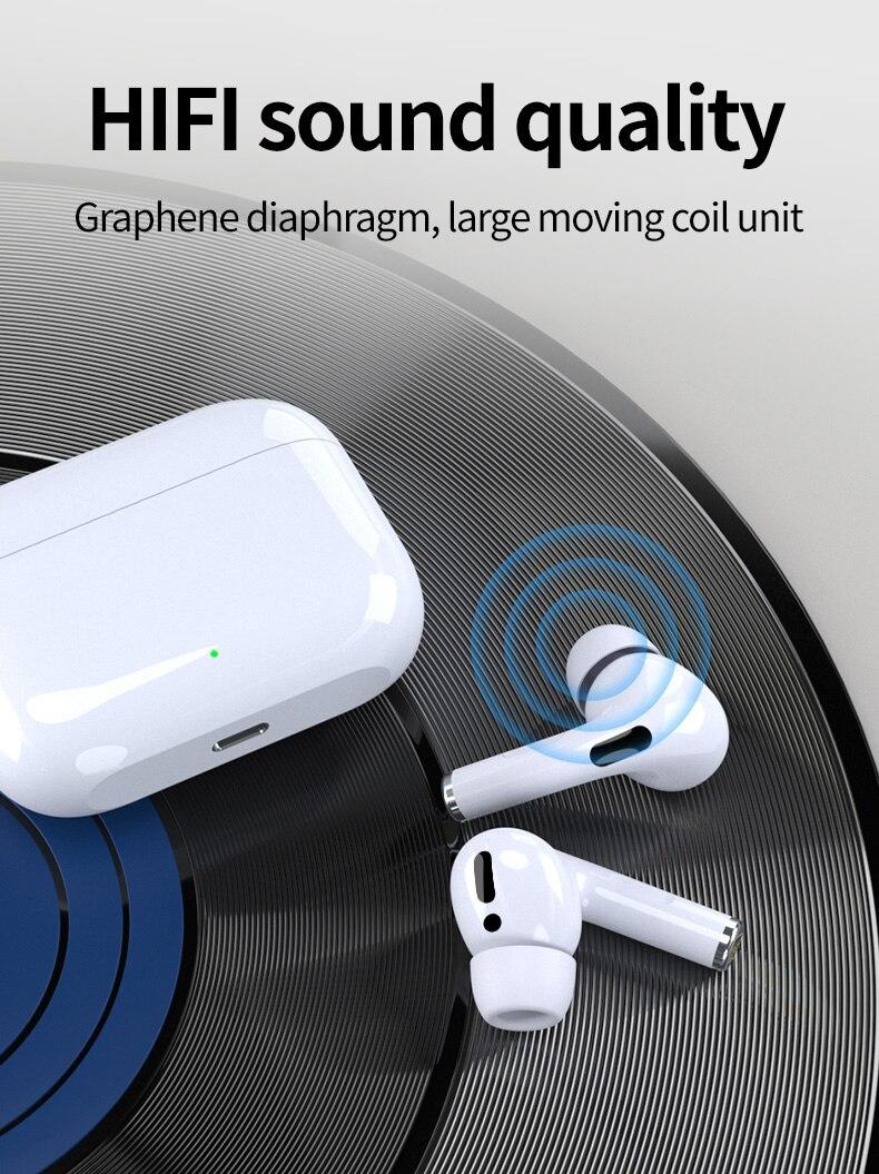 Оригинал про 3 СПЦ 1:1 клон Airpodering поддержку переименования GPS и беспроводные наушники наушники Bluetooth наушники i9000 на ПК