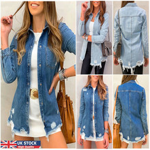 2020Women Basic Coat Denim Jacket Women Winter Denim