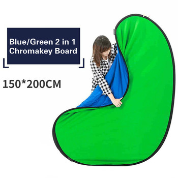 Photography Reflector Portable Chromakey Backdrop 150x200cm 2 in 1 Blue Green Screen Photo Background Backdrops Video Studio allenjoy photography backdrops green screen hromakey background chromakey non woven fabric professional for photo studio