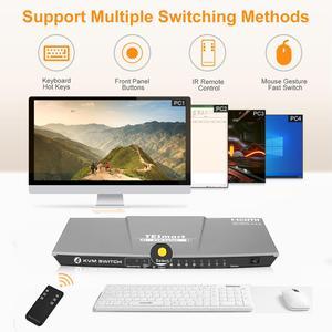 Image 5 - HDMI KVM Switch4x1 3840x2160 @ 60Hz 4:4:4 avec 2 pièces 5ft KVM câbles prend en charge le contrôle de lappareil USB 2.0