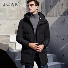UCAK Brand 2019 Winter Jackets Men's Long Hooded Casual Polyester Streetwear Outwear Thick Warm New Fashion Clothing Men U8021