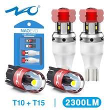 NAO W16W светодиодный T15 921 светодиодный обратный светильник лампочки CANBUS 2000LM 8 Вт T10 W5W 6000K белый 912 светодиодные лампы автомобиля запасной свети...