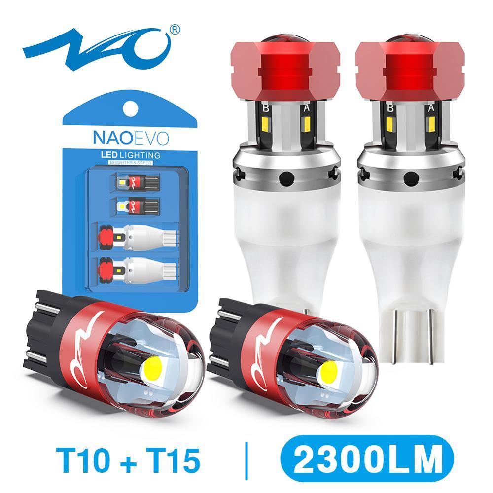 NAO W16W светодиодный T15 921 светодиодный обратный светильник лампочки CANBUS 2000LM 8 Вт T10 W5W 6000K белый 912 светодиодные лампы автомобиля запасной светильник 4SMD CSP 12V