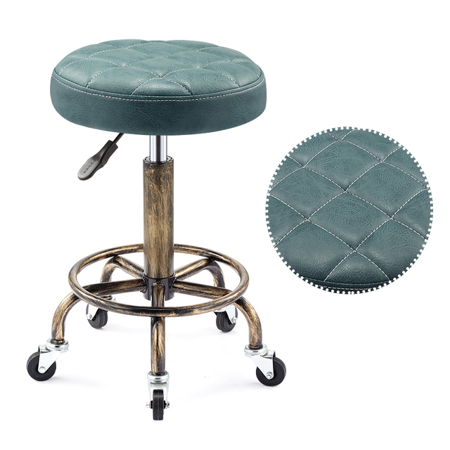 Beautifying stool lifting rotary hairdressing master stool anti-explosion corridor pulley round stool for hairdressing 4