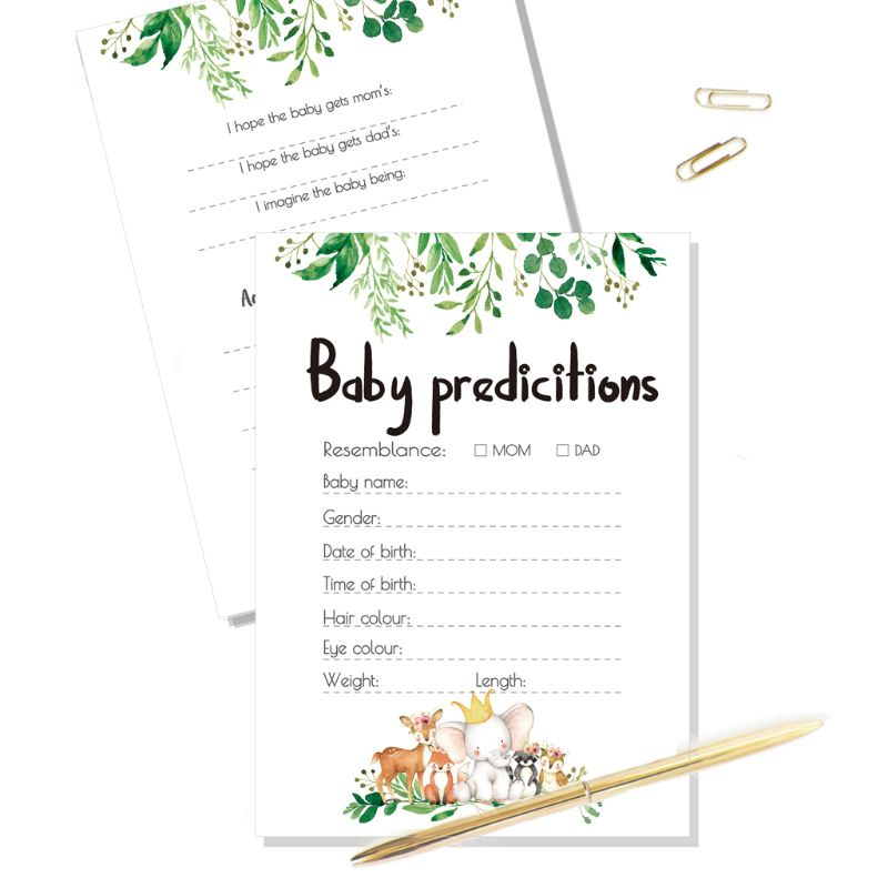 10 Baby Shower Prediction And Advice Cards Baby Shower Games Activities Supplies P31B
