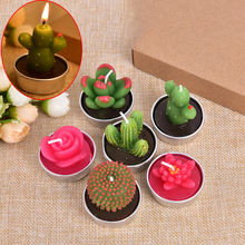 Cactus-Candles Scented Plants Home-Decoration Valentine-Day-Gift Creative Smokeless Party-Ornament