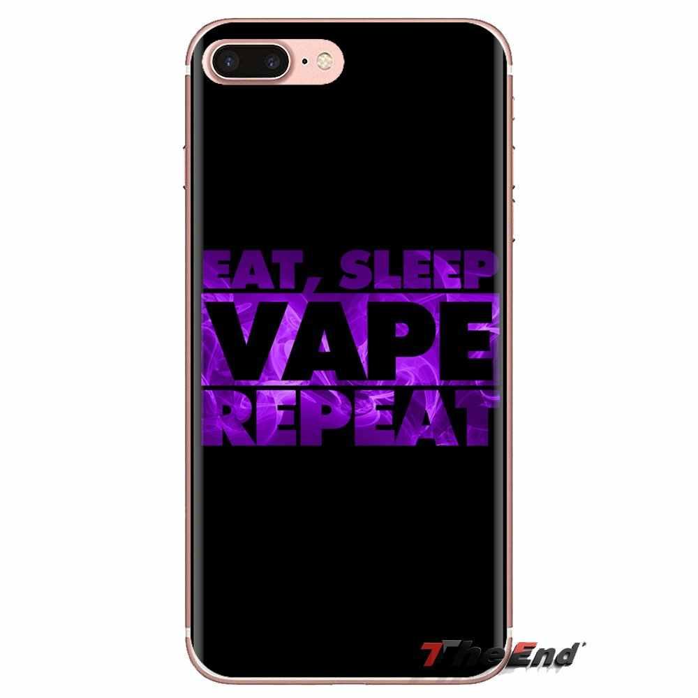 أكل النوم Vape Vaping يقتبس لسامسونج غالاكسي S3 S4 S5 مصغرة S6 S7 حافة S8 S9 S10 زائد نوت 3 4 5 8 9 لينة حقيبة بلاستيكية شفافة