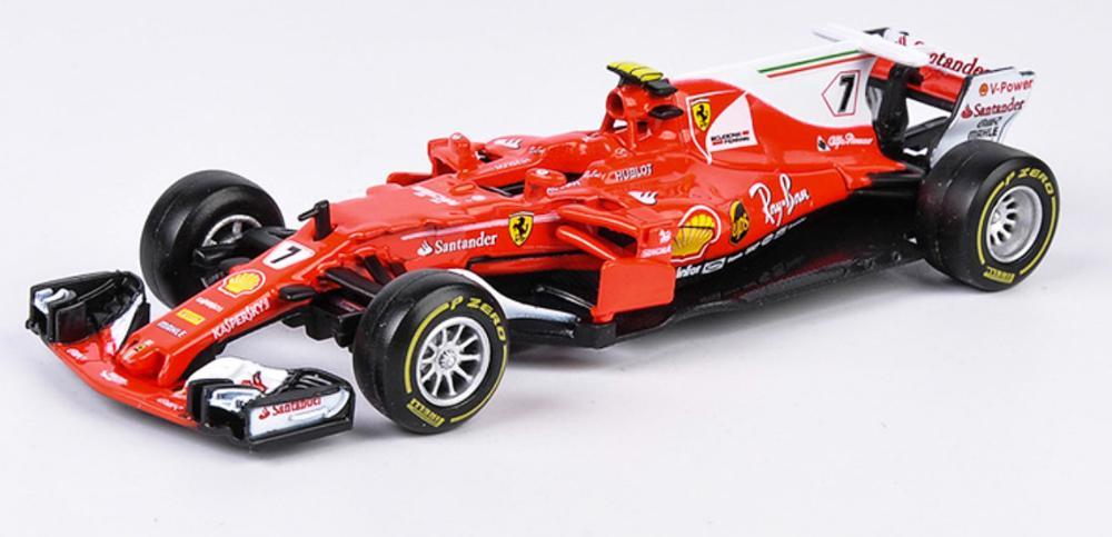 Bburago 1/43 1:43 2016 Kimi Raikkonen No7 F1 Formula 1 Racing Car Diecast Display Model Toy For Kids Boys Girls