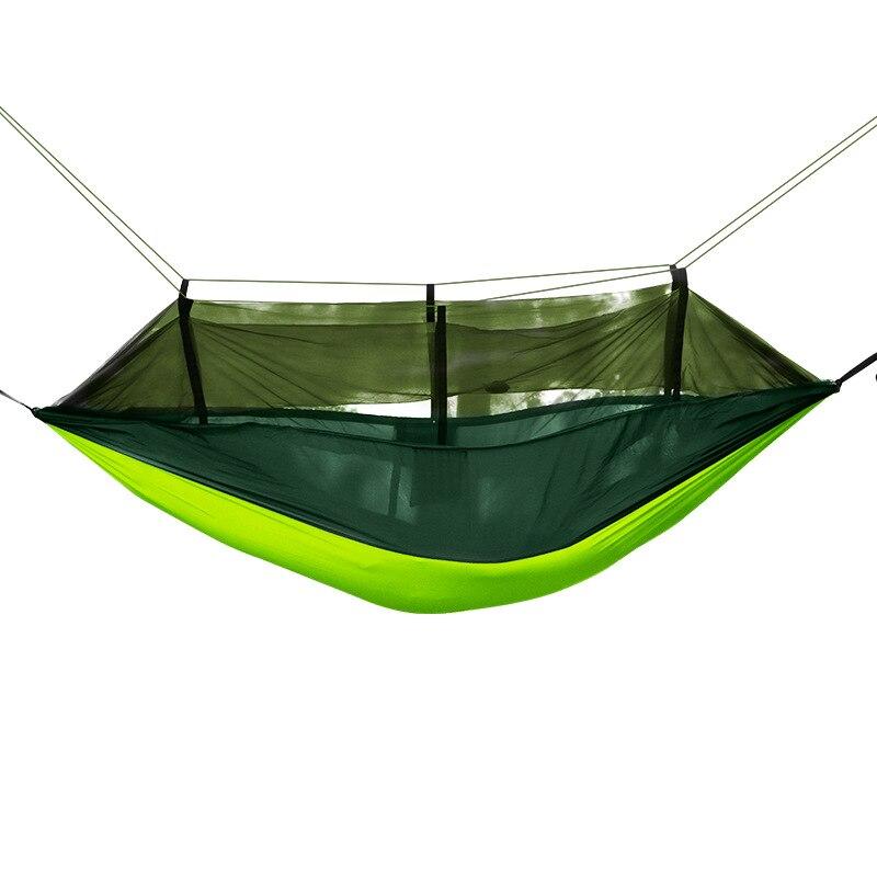 With Mosquito Net Hammock Outdoor Parachute Cloth Nylon Hammock Army Green Camping Air Gauze Tent Hammock