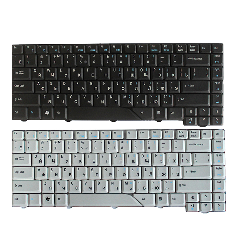 NWE Russian Keyboard For Acer Aspire AS4710 AS4520-5582 4710ZG EMachines E500 E510 RU Laptop Keyboard Black/white