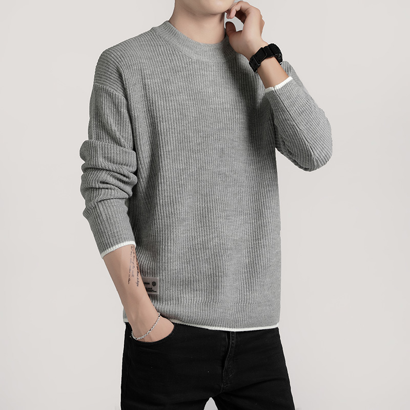 Fall/winter 2019 Men's Knitwear -- Solid Color Turtleneck, Loose Sweater Size M-xxl