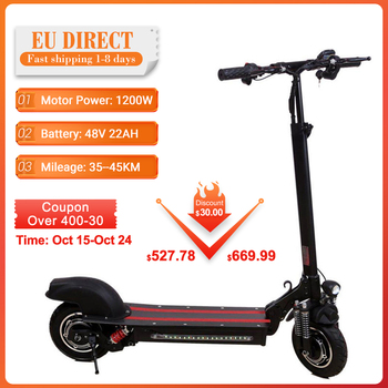 [Directo de la UE] escúteres eléctricos plegables adultos único Motor Dual 30KM-45km 48V 12-22Ah E Scooter Eléctrico Scooter monopatín