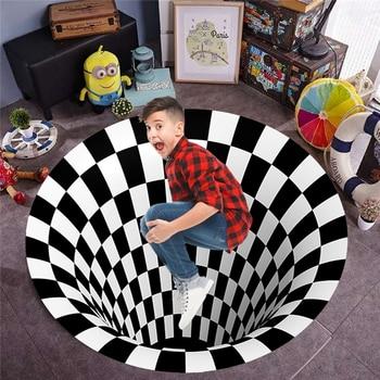3D Illusion Vortex-felpudos de pasillo para sala de estar, decoración del hogar,...
