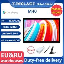 Teclast M40 10.1 ''Tablet 1920X1200 4G Netwerk Unisoc T618 Octa Core 6Gb Ram 128Gb rom Tabletten Pc Android 10 Dual Wifi Type-C