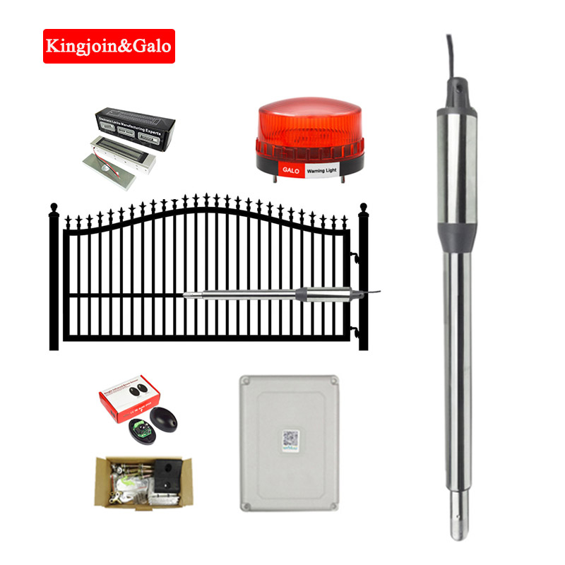 KJ&GALO Single Leaf Door Arm 24VDC Automatic Swing Gate Door Opener Motors Linear Actuator Solar Kit Optional (+Free Masks)