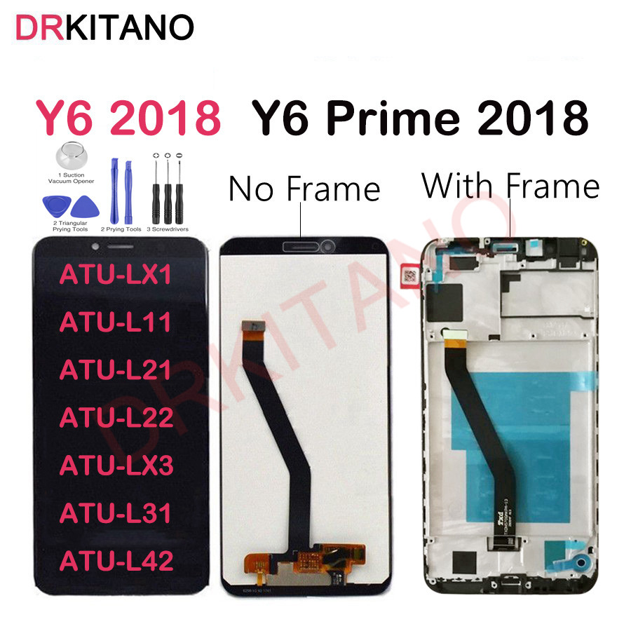 Original LCD For Huawei Y6 2018 LCD Display Touch Screen With Frame For Huawei Y6 Prime 2018 LCD ATU LX1 LX3 L11 L21 L22 L31 L42-in Mobile Phone LCD Screens from Cellphones & Telecommunications