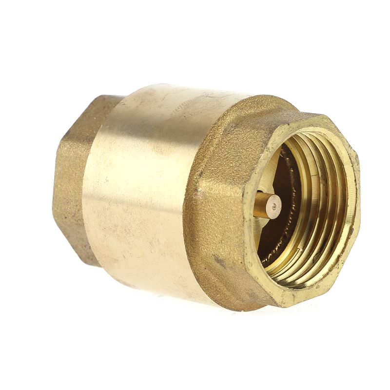 Brass Female Male Thread In Line Spring Vertical Check Valve Pump Pipe Fittings