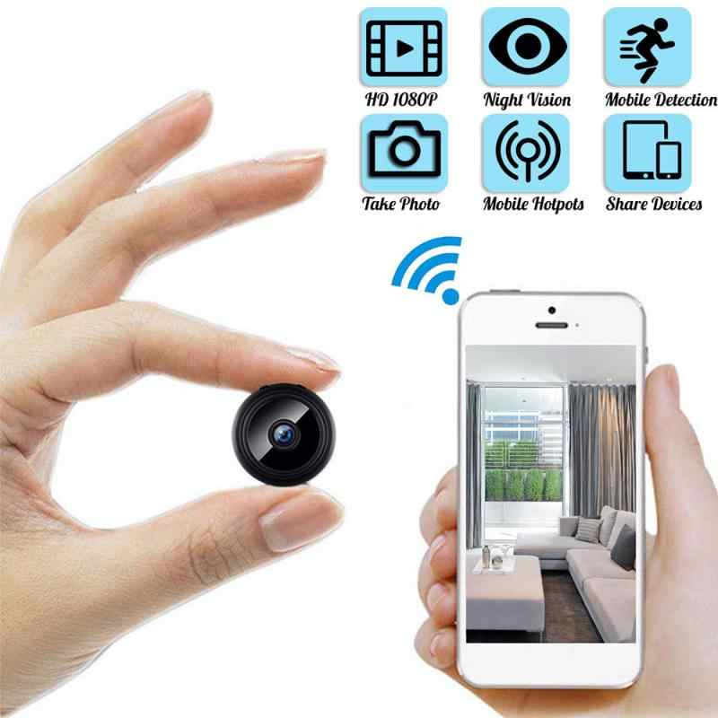 Mini Camera, Home Security Camera WiFi, Nachtzicht 1080P Draadloze Bewakingscamera, Remote Monitor Telefoon App