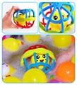Мягкие разноцветные шарики, игрушки-погремушки с колокольчиком, развивающие игрушки, прикосновение, захват рук, обалл-шар для обучения дете...