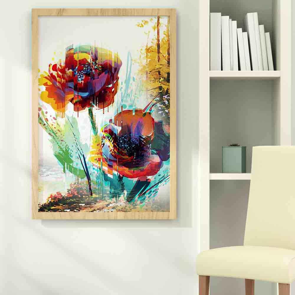 Северное растение картина маслом натюрморт цветок абстрактная живопись холст картины гостиная коридор, в офис, для украшения дома росписи