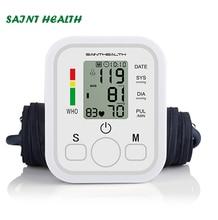 SaintHealth automatique numérique haut du bras tensiomètre fréquence de battement cardiaque compteur de pouls tonomètre sphygmomanomètre pulsomètre