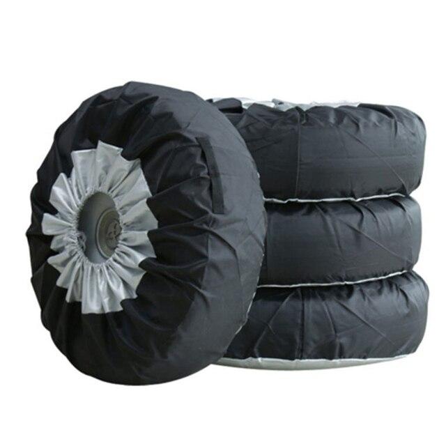 1/2/4Pcsยางฝาครอบกรณีฤดูหนาวและฤดูร้อนรถยางอะไหล่Oxfordเก็บผ้ากระเป๋าพกพาtoteยางล้อป้องกันครอบคลุม